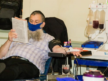Chassidic Blood Plasma Drive in Brooklyn to aid Covid-19 Patients