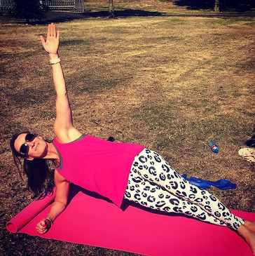 Pilates outside! what a summer 2018!