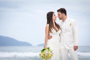 Fotografia de casamento praia Ubtuba