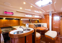 Fotografia de interior de barco