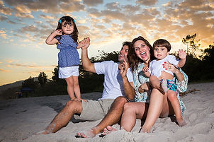 Fotografia família praia Ubatuba