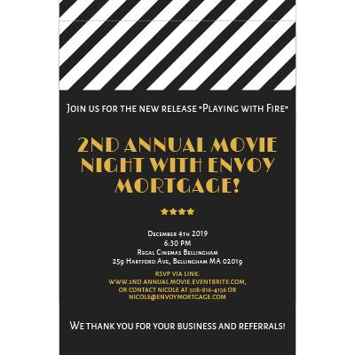 2019 movie night Invite