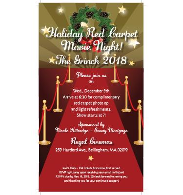 2018 movie night Invite
