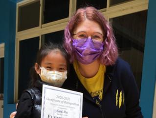 12/7 Global Citizenship Award  winner for the month of November
