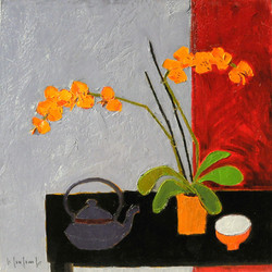 ORCHID IN THE TEAPOT