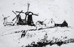 Moulins in Holland