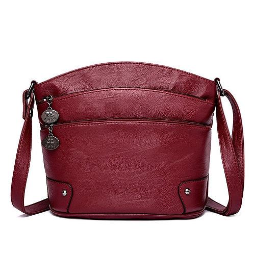 Multi-Layer Pockets Women Leather Shoulder Bag Luxury Handbags