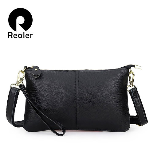 REALER Fashion Women Genuine Leather Clutches Bag