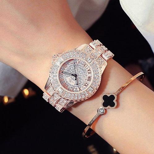 New Luxury Rhinestone Bracelet Women Diamond  Watch Stainless Steel Crystal