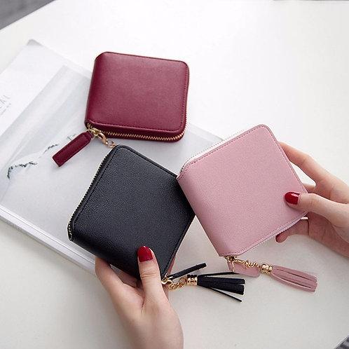 Hot Luxury Leather Wallet Women  Wallets Zipper  Clutch Bag