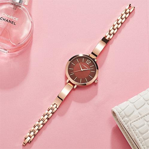 2021Fashion Dress Ladies Bracelet Watches Stainless Steel Band Wristwatch