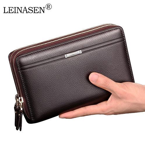 Men Wallets With Coin Pocket  for Men  Wallet Double Zipper  Wallet Purse