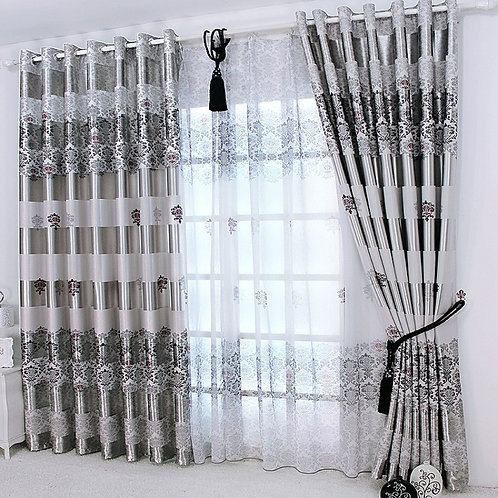 Curtains for Windows Drapes European Modern Elegant Noble Shade Curtain