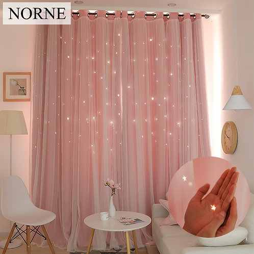 NORNE Thermal Insulated Blackout Curtain for Window Drape Blinds