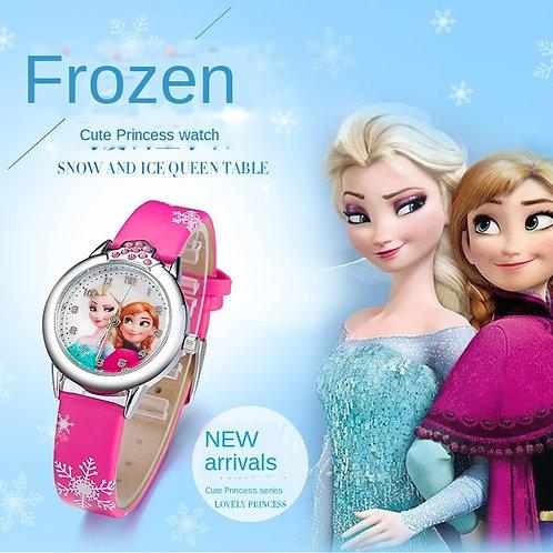 Elsa Watch Girls Elsa Princess Kids Watches Leather Strap