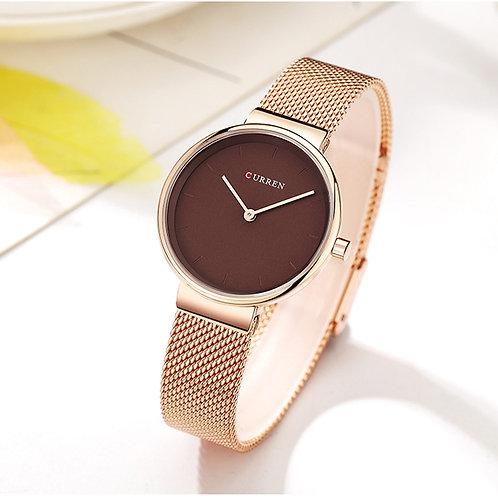 Ladies Dress Mesh Bracelet Watches With Stainless Steel Quartz Wristwatch Women
