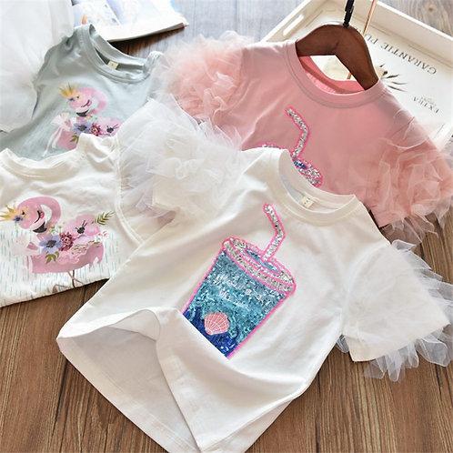 2020 3 5 6 7 8 Years Unicorn Girls T-Shirt Boys Short Sleeve Tee Tops