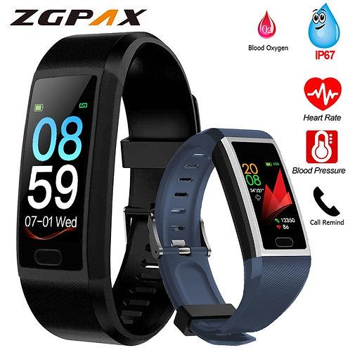 Fitness Blood Pressure Measurement Waterproof Smart Band Bracelet Watch