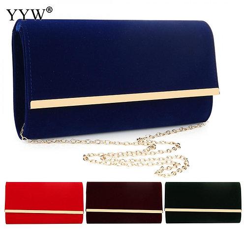 Blue Flannelette Clutch Evening Luxury Handbags