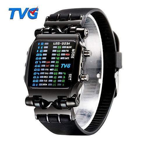 Luxury Brand TVG Watches Men Fashion Rubber Strap L