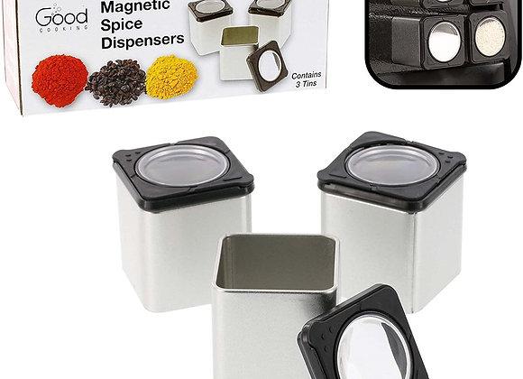 Magnetic Spice Jars - Set of 3