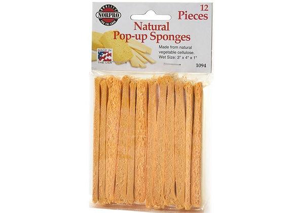 Natural Pop-Up Sponges (12)