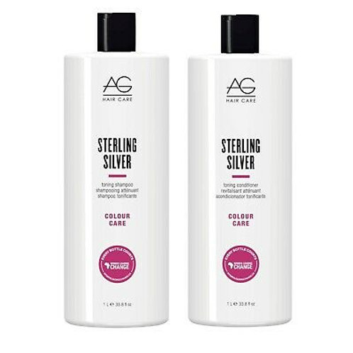 AG Hair Care - Sterling Silver Liter Duo