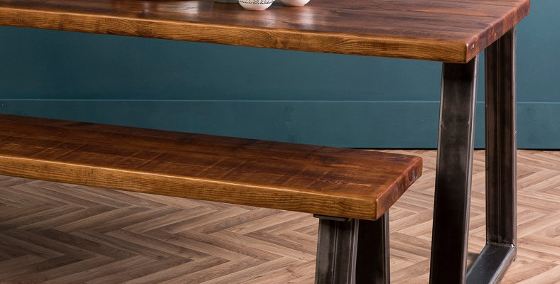 A U X Rustic Dining Table