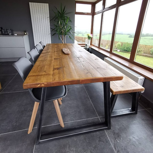 A U X Dining Table & Bench Set