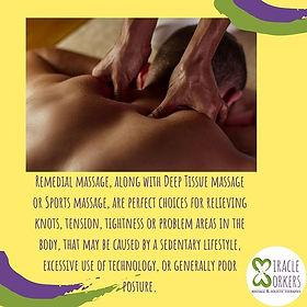 Remedial massage seeks to stimulate the
