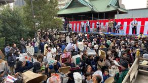 胡録神社「節分祭」の警備