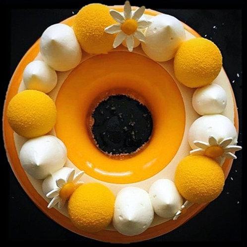 Passievrucht-mango taart