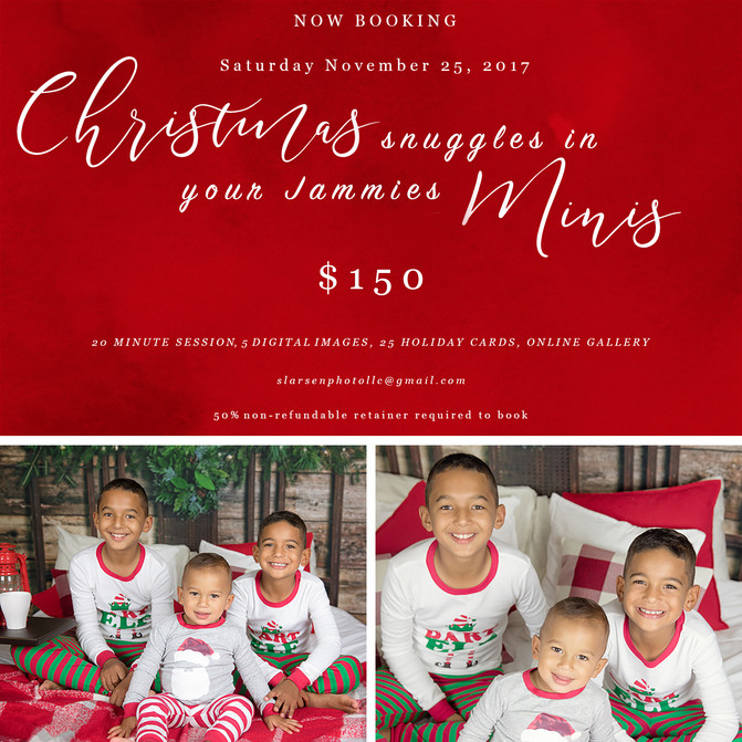 Christmas Snuggles in you Jammies Minis