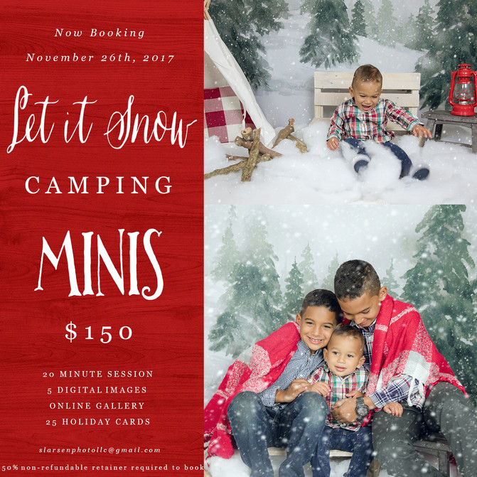 Let it Snow Camping Minis