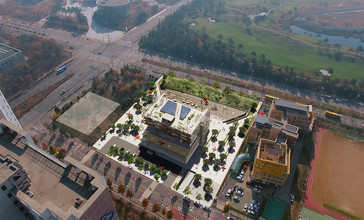 New library Aerial view
