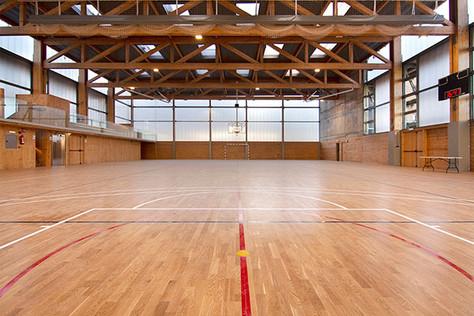 Main sports court. Upper level