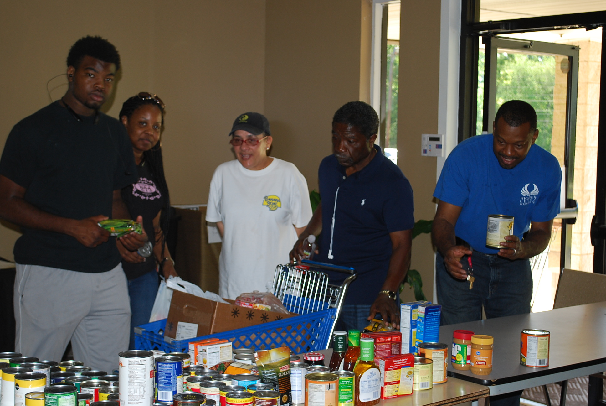 Sorting Donated Food for the Pantry