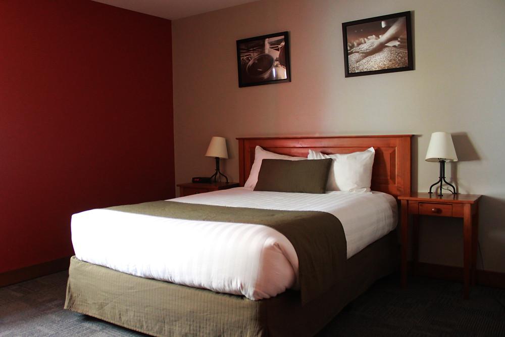 Corner hotel room at Howe Sound Inn & Brewing