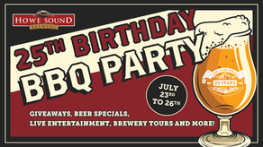 25th Birthday BBQ Party at the Brewpub; live music, giveaways & specials all weekend! July 23- 26