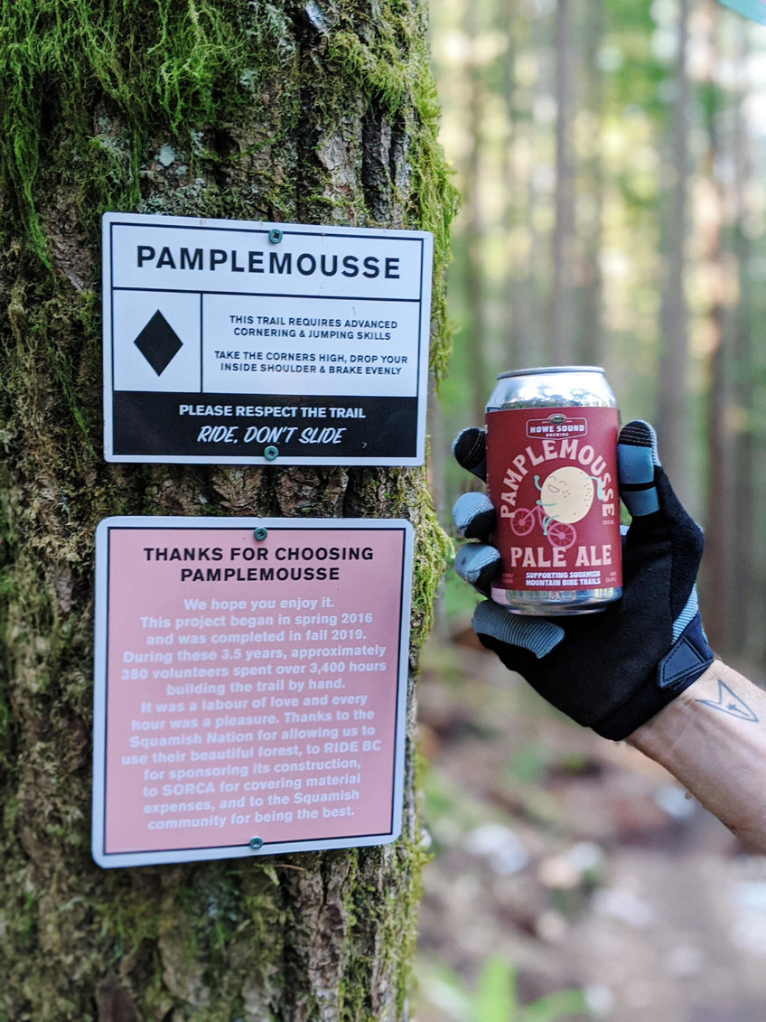 Howe Sound Brewing and Ride BC Beer, Pamplemousse Pale Ale