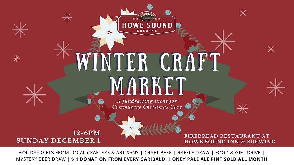 Winter Craft Market at a Craft Brewery for Christmas shopping