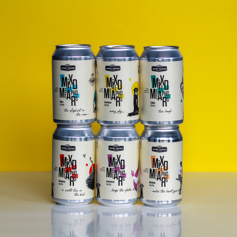 Howe Sound Brewing beer stack - Mixed Metaphors Sour & Pale Ale Mix Pack
