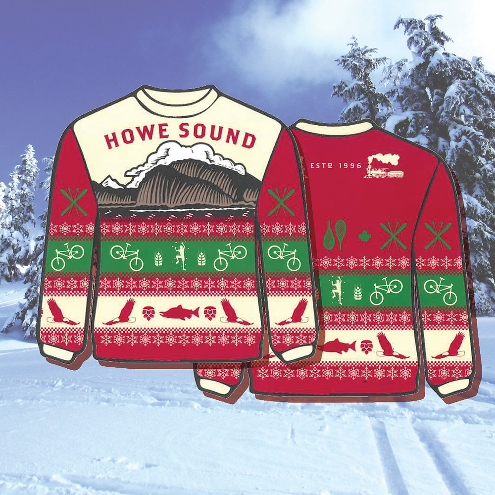 Howe Sound Brewing Holiday Sweater Squamish