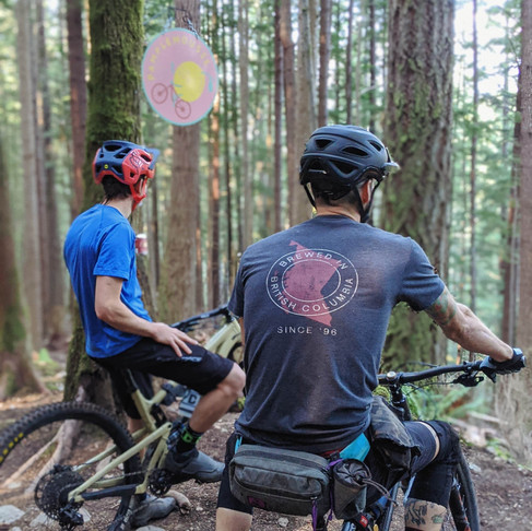 Pamplemousse Pale Ale, the beer building bike trails in Squamish