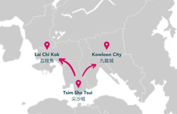 From Tsim Sha Tsui to Lai Chi Kok and Kowloon City 由尖沙咀至荔枝角及九龍城