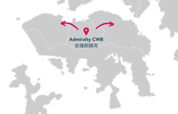 From Admiralty CWB to the rest of HK Island (except Aberdeen and Stanley) 由金鐘銅鑼灣至香港島各區(香港仔及赤柱除外)