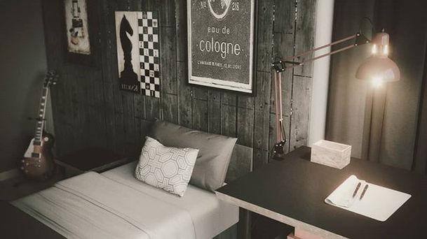 #bedroom #design #details #3dsmax #coron