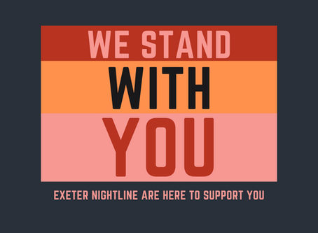 Exeter Nightline stands in solidarity with Black Lives Matter
