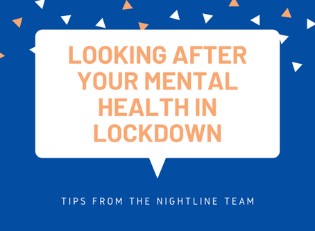 Looking after your mental health during lockdown
