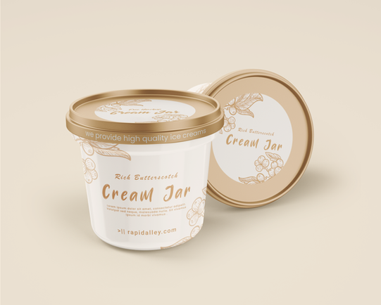 Cream Jar Mockup Design - Rapidalley